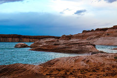 Lakeside scenery at Lake Powell Stock Photos