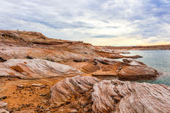 Lakeside scenery at Lake Powell Royalty Free Stock Photography