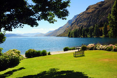 Lakeside scenery in Queenstown Royalty Free Stock Photo