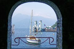 Lakeside scenery of Varenna, a beautiful village by Lake Como in Lombardy, Italy Stock Photography