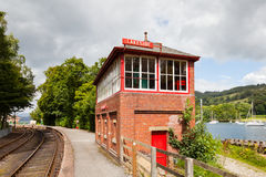 Lakeside Signal Box Stock Photo