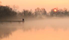 Lakeside sunrise Stock Images