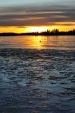 Lakeside sunset Royalty Free Stock Images