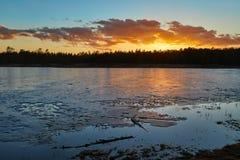 Lakeside Sunset Landscape Stock Photos