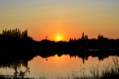 Lakeside sunsets Royalty Free Stock Photos