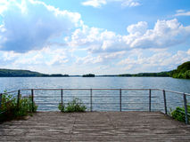 Lakeside terrace Royalty Free Stock Photo
