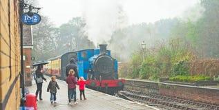 Lakeside to Haverthwaite steam railway Royalty Free Stock Images