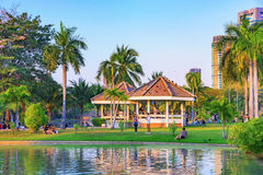 Lakeside view of Chatuchak park royalty free stock photography