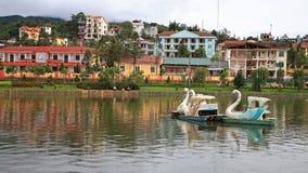 Lakeside view of Sapa town Stock Image
