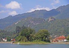 Lakeside view of sapa town Royalty Free Stock Photos