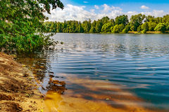 Lakeside. The view from the shore of the lake Royalty Free Stock Images