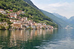 Lakeside village Stock Image