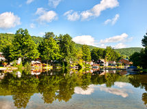 Lakeside village Royalty Free Stock Images
