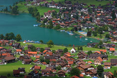 Lakeside village in Switzerland Royalty Free Stock Images