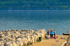 Lakesidegymnastik Arkivfoton