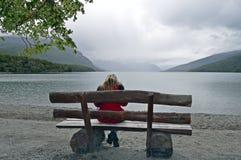 lakesiden i ushuaia arkivfoton