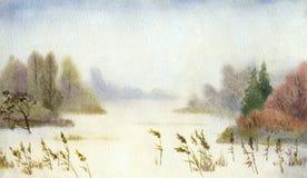 lakesnow royaltyfri illustrationer