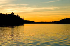 lakesolnedgång Arkivbilder