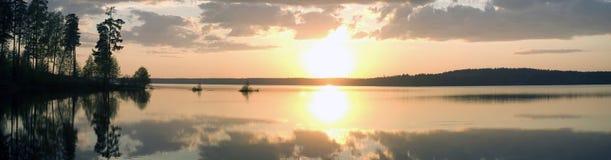 lakesolnedgång Royaltyfria Foton