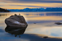 lakesolnedgångtahoe Arkivbild