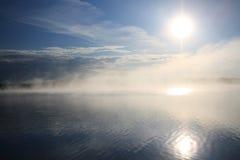 lakesoluppgång Fotografering för Bildbyråer