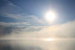lakesoluppgång Royaltyfri Bild