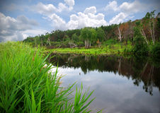 lakesommar Arkivfoto