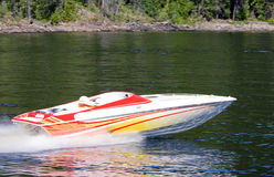 lakespeedboat Fotografering för Bildbyråer