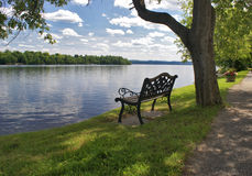 Lakeview Bench Seat Royalty Free Stock Images