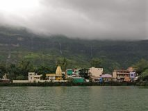 Lakeview bij trimbakeshwar royalty-vrije stock afbeeldingen