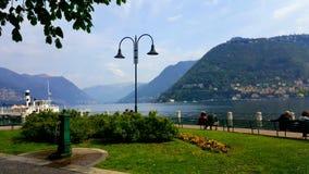 Lakeview Como, Itália Foto de Stock Royalty Free