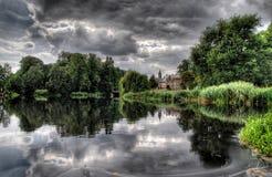 Lakeview de château Images stock