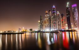Lakeview de Dubaï Marina Skyscrapers Images stock