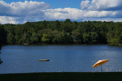 Lakeview na tarde Fotografia de Stock