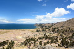 Lakeview near Copacabana. Lake Titicaca. Bolivia Royalty Free Stock Images