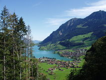 Lakeview in Switzerland Royalty Free Stock Photos