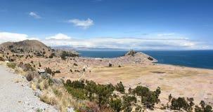 Lakeview vicino a Copacabana Lago Titicaca bolivia Immagini Stock