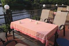 Lakeviewrestaurant Royalty-vrije Stock Foto