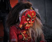 Lakhey Newari Demon God royalty free stock photography