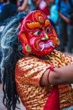 Lakhey-Tanz in Kathmandu Nepal, Masken-Tanz stockfoto