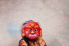 Lakhey-Tanz in Kathmandu Nepal, Masken-Tanz stockbild
