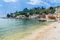 Lakka Bay on the Island of Paxos Stock Image