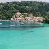 Longos Bay on the Island of Paxos Stock Photo