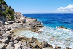 Lakka coastline, Paxos Royalty Free Stock Photography