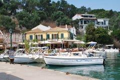 Lakka harbour, Paxos island Royalty Free Stock Photo