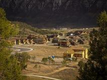 Lakota kanjon nära den nya slotten Colorado Fotografering för Bildbyråer