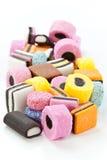 Lakritze-Bonbons Stockbild