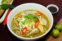 Laksa noodle malaysia Stock Images