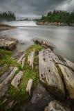 Laksafossen waterfall in Norway Royalty Free Stock Image