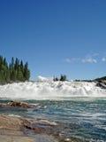 Laksforsen waterfall Norway Stock Image